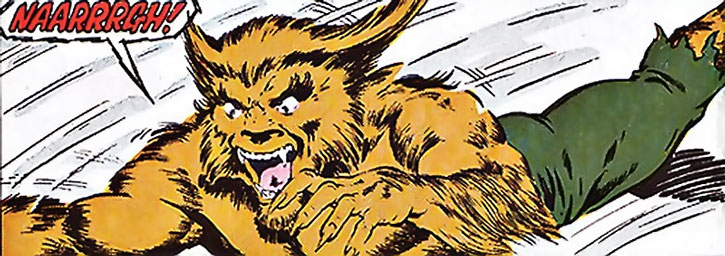 The Werewolf by Night leaps to the attack