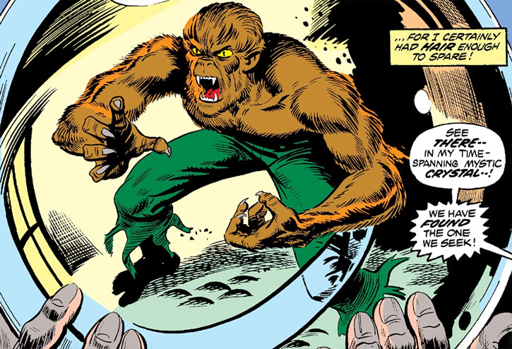Werewolf by Night (Early) (Marvel Comics) in a crystal ball