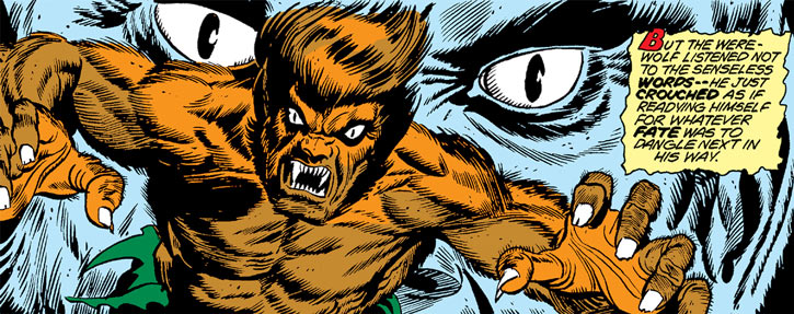 Werewolf by Night (Early) (Marvel Comics) lunatic air