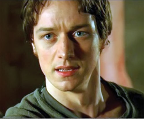 Wesley Gibson (James McAvoy in the Wanted movie) face closeup