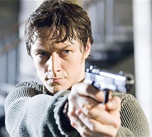 Wesley Gibson (James McAvoy in the Wanted movie)