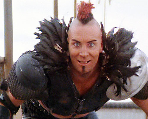 Wez (Vernon Wells in Mad Max) looking psychotic