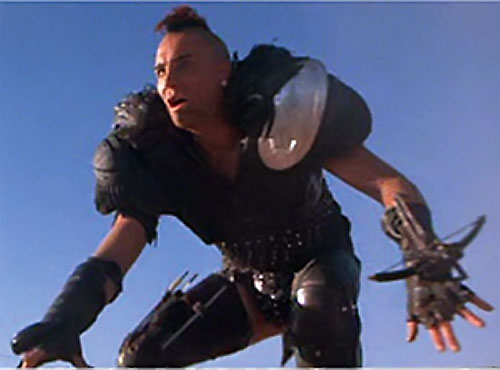 Wez (Vernon Wells in Mad Max) ready to jump aboard