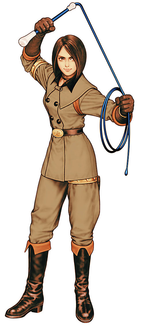 Whip (King of Fighters) (Muchiko) on her guard