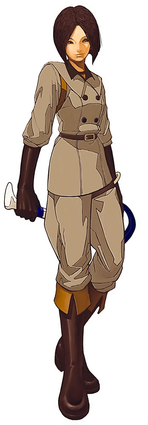 Whip (King of Fighters) (Muchiko) in her uniform