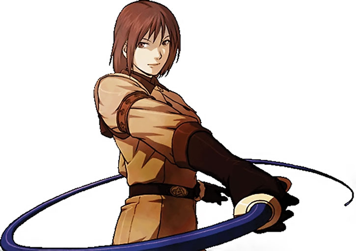 Whip in King of Fighters, over a white background