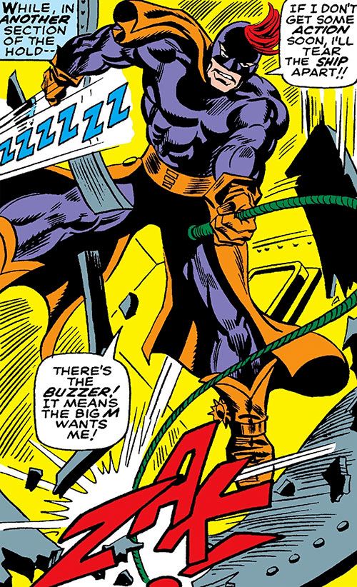 Whiplash shattering steel with his whip (Marvel Comics)