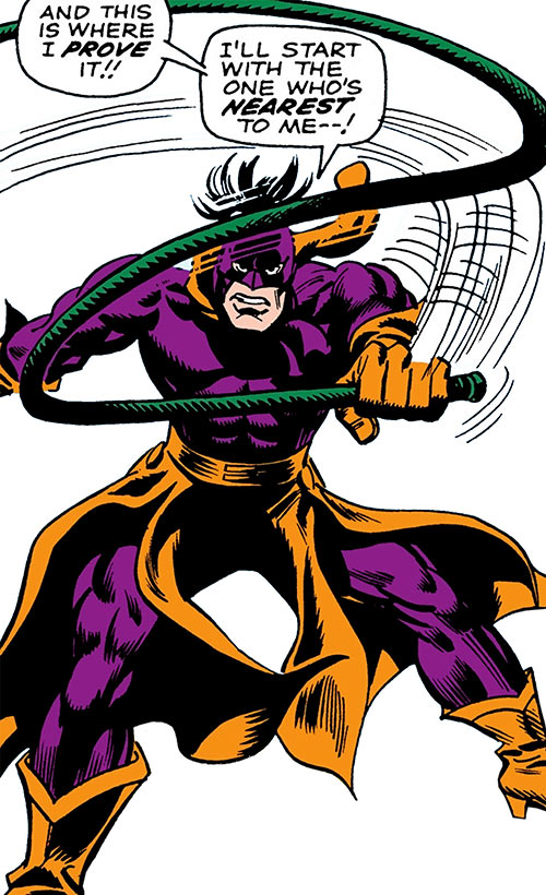 Whiplash in his early costume over a white background (Marvel Comics)