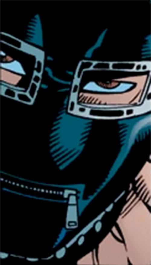 Whiplash (Late Scarlotti) (Iron Man enemy) (Marvel Comics) face closeup