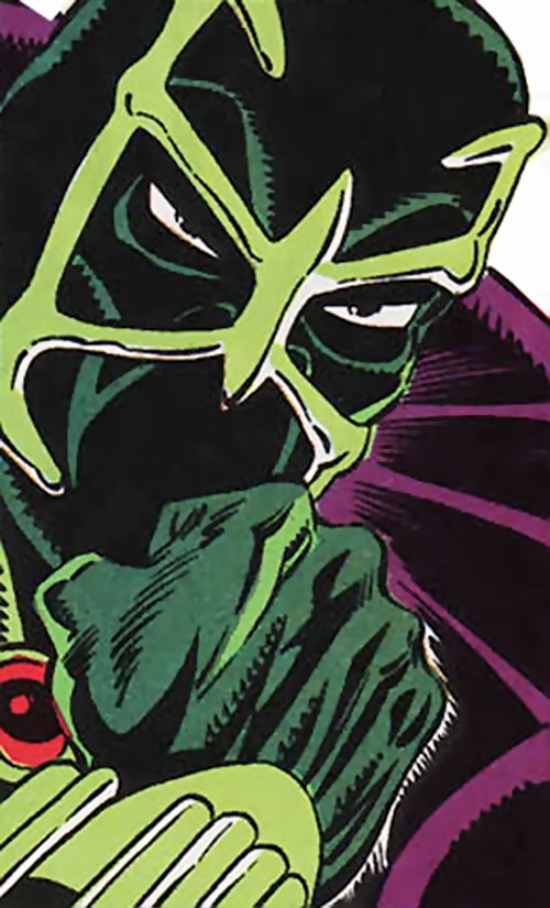 Whisper of the Foreigner's Death Squad (Spider-Man enemy) (Marvel Comics) face closeup