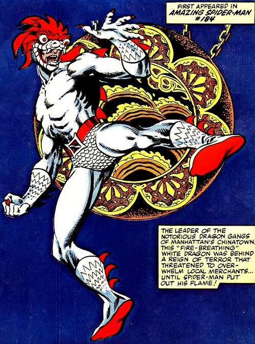 White Dragon (Spider-Man enemy) profile page