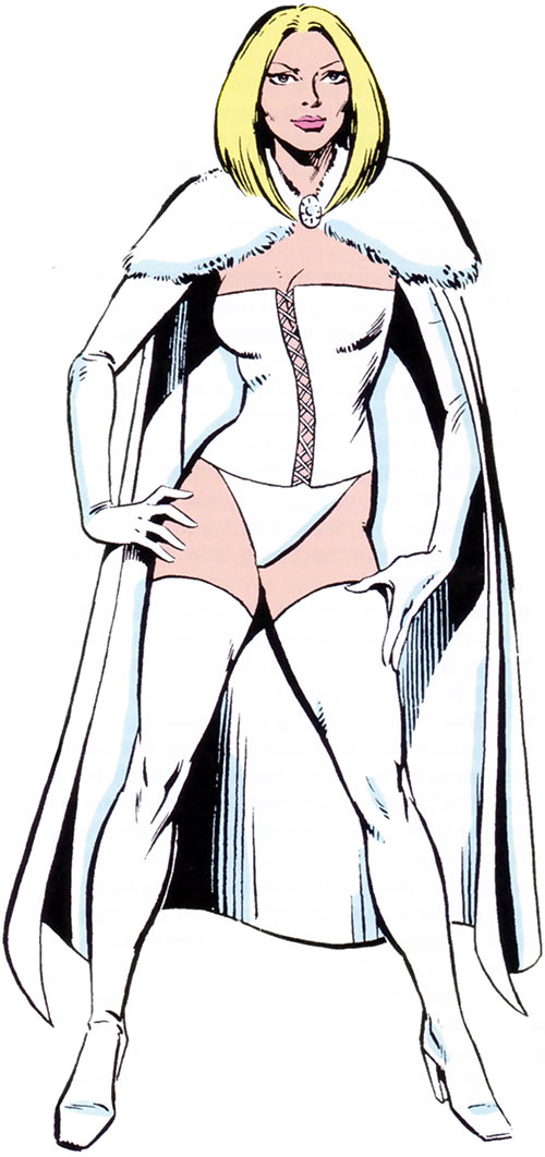 White Queen Emma Frost (X-Men enemy) from the 1983 Marvel Comics handbook