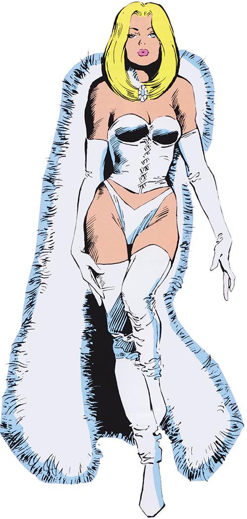 White Queen Emma Frost (X-Men enemy) from the 1985 Marvel Comics handbook