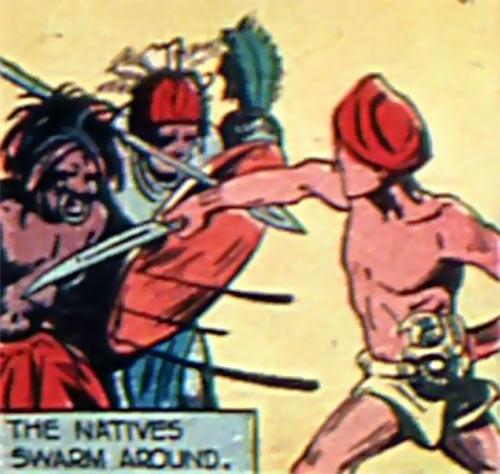White Rajah (Master Comics 1940) sword fighting