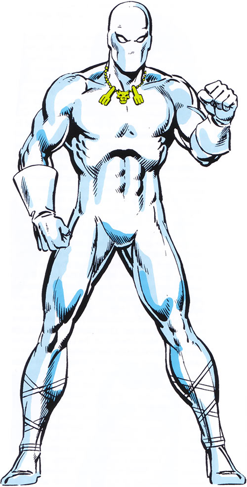 White Tiger (Hector Ayala) from the 1983 Marvel Comics handbook
