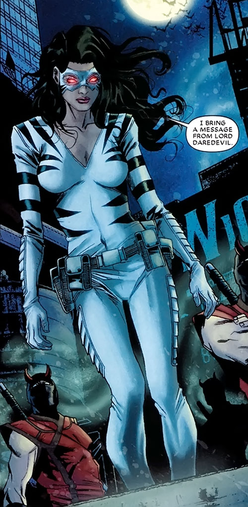 White Tiger (Angela del Toro) (Marvel Comics) with Daredevil ninja