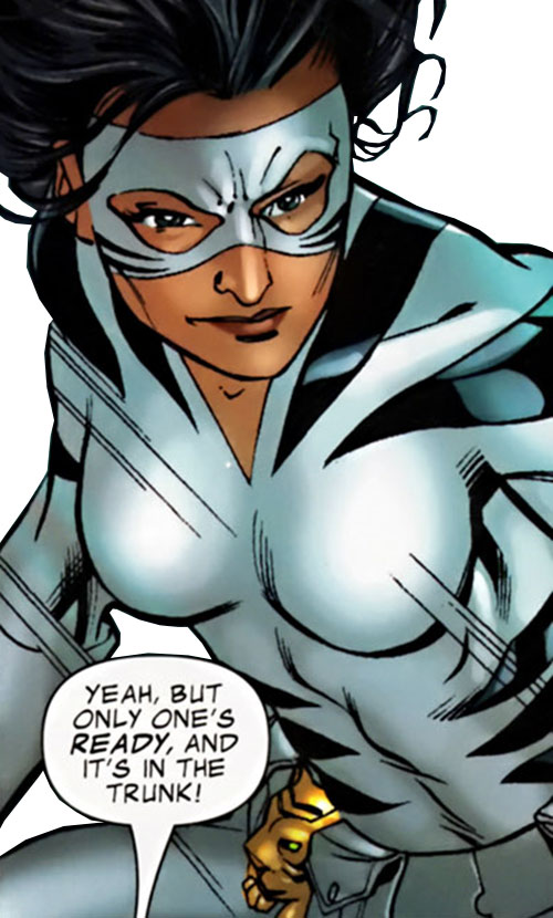 White Tiger (Angela del Toro) (Marvel Comics) smirking