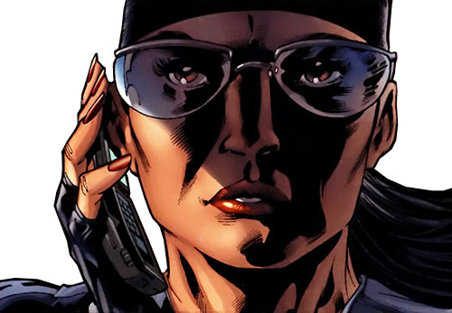 White Tiger (Angela del Toro) (Marvel Comics) with bandanna and sunglasses