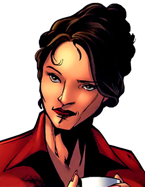 White Tiger (Angela del Toro) (Marvel Comics) portrait with red blouse