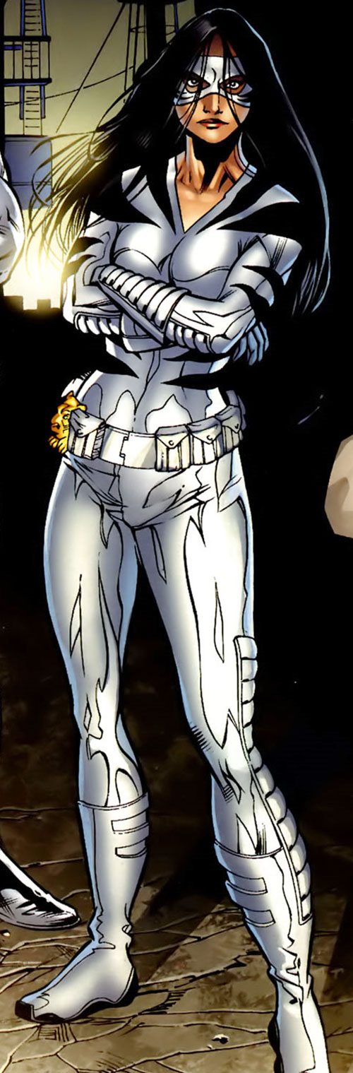 White Tiger (Angela del Toro) (Marvel Comics) with arms crossed
