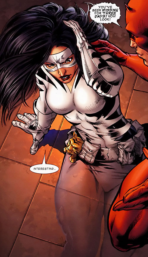 White Tiger (Angela del Toro) (Marvel Comics) partially invisible transparent