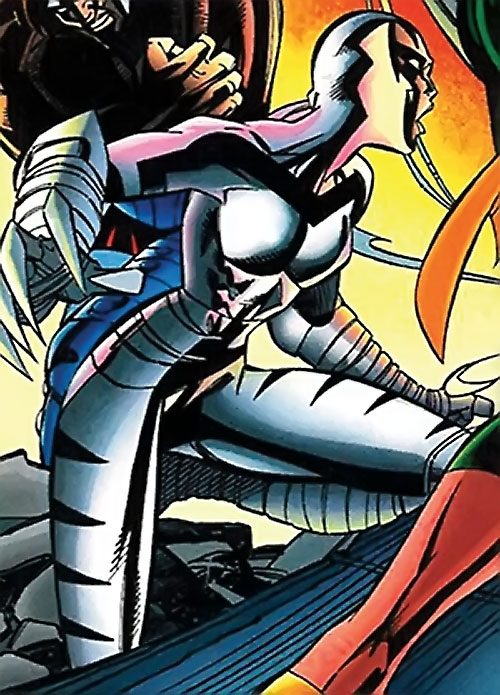 White Tiger of the Heroes for Hire (Marvel Comics) in battle