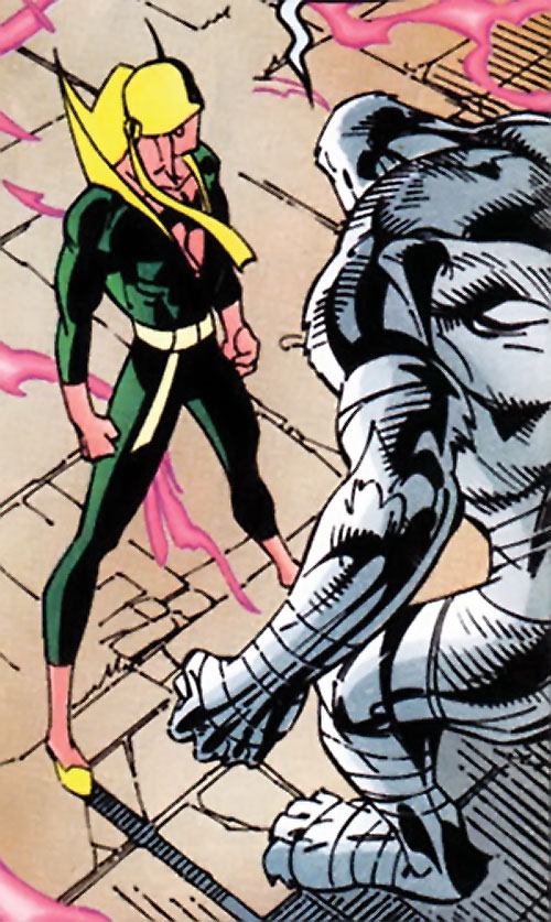 White Tiger of the Heroes for Hire (Marvel Comics) in giant humanoid form, with Iron Fist