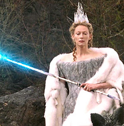 Jadis the White Witch (Tilda Swinton in Narnia) with her magic rod