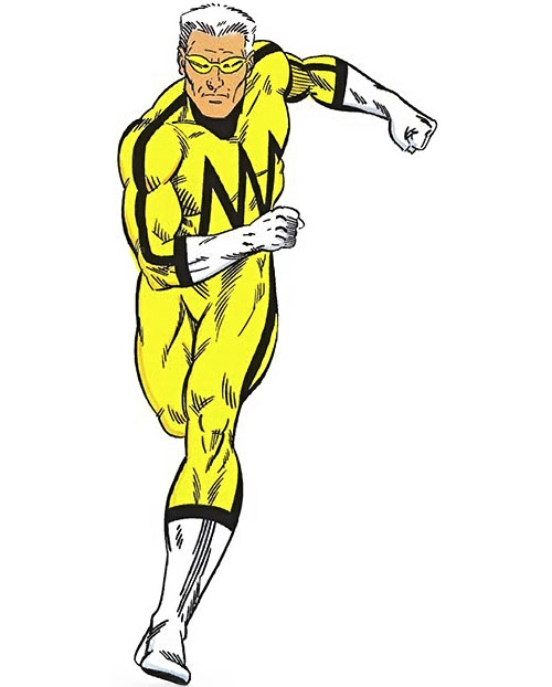 Whizzer of the Squadron Supreme (Marvel Comics) running