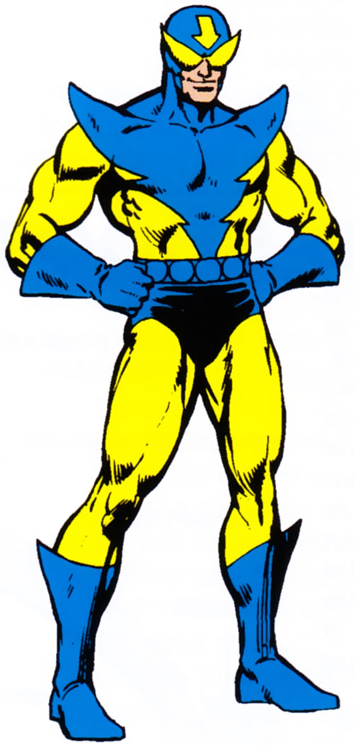 Whizzer of the Squadron Supreme from the 1983 Marvel Comics handbook
