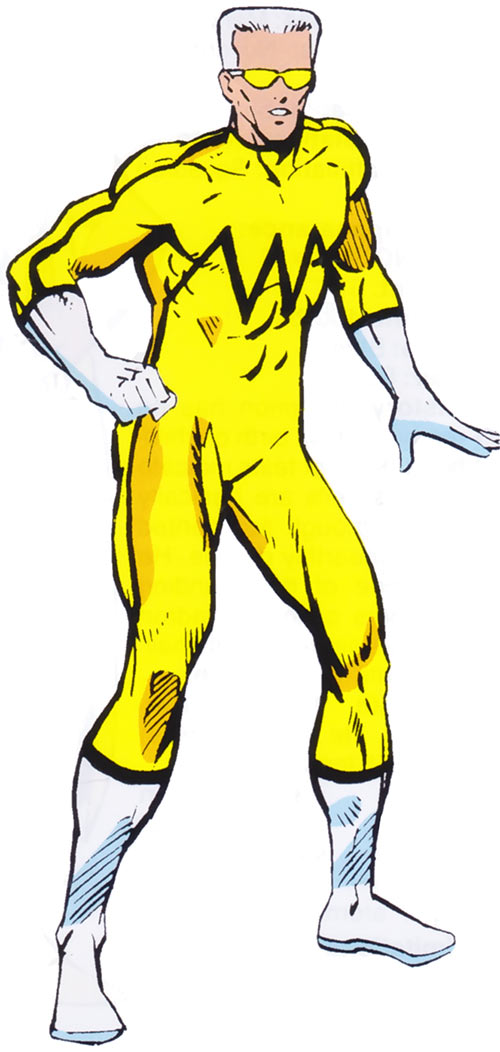 Whizzer of the Squadron Supreme from the 1985 Marvel Comics handbook