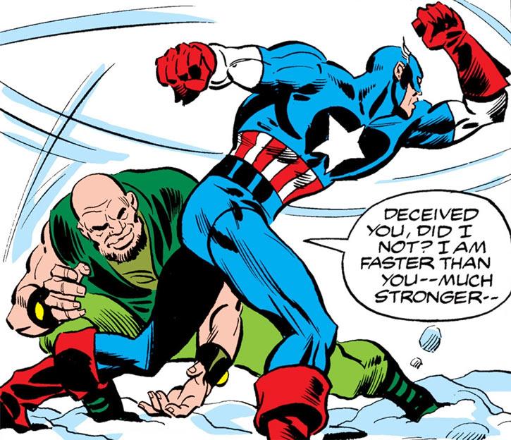 Widowmaker vs. Captain America (Marvel Comics)