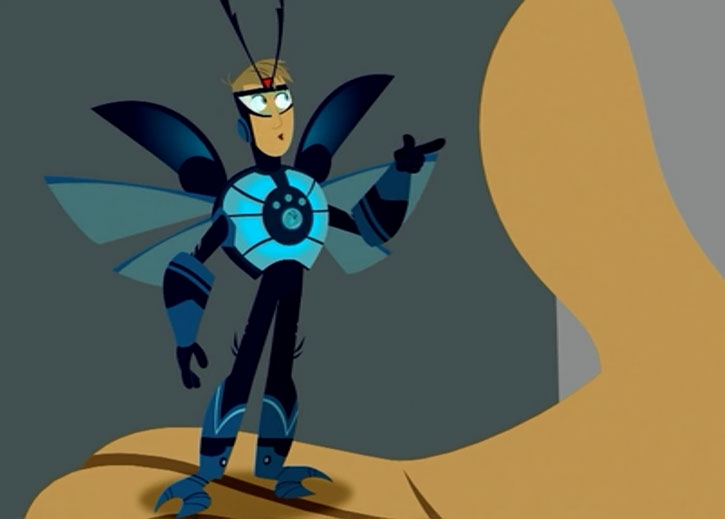 Wild Kratt armor in firefly mode