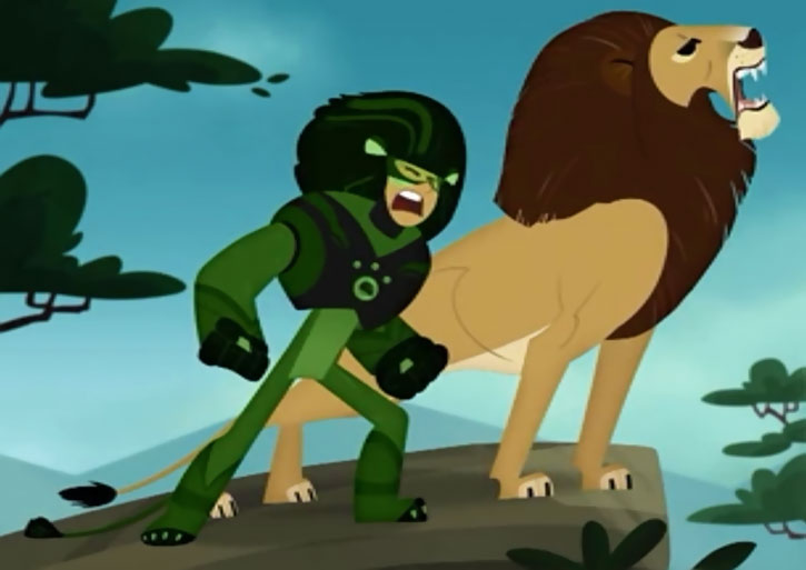 Wild Kratt armor in lion mode