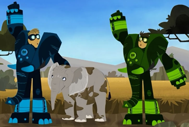 The Wild Kratts (Chris and Martin) in elephant mode