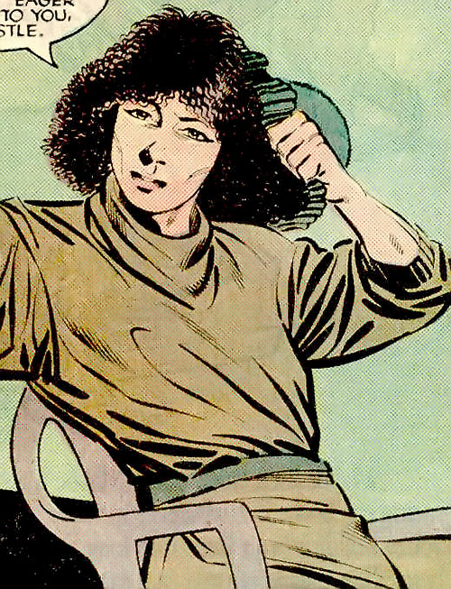 Wild Rose (Punisher ally) (Marvel Comics) sitting