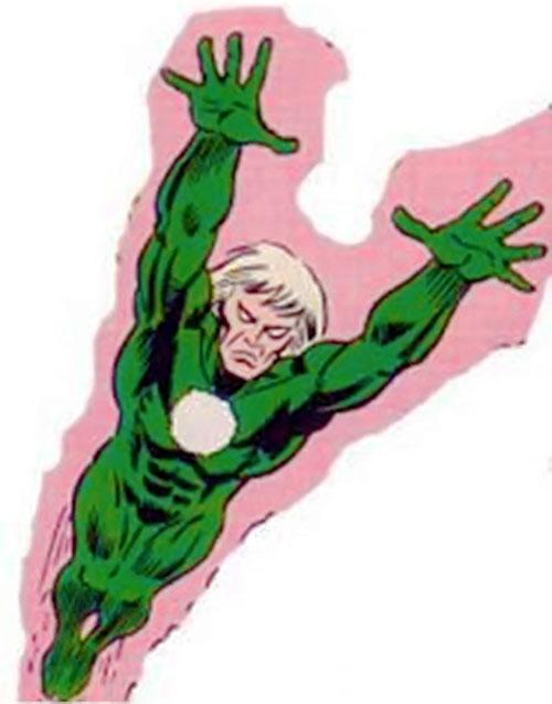 Will o' the wisp (Marvel Comics) in flight