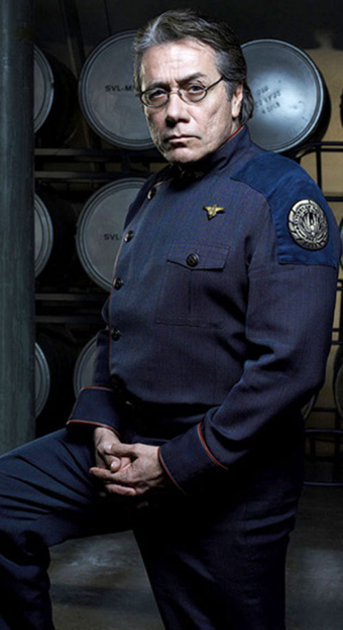 William Adama (Edward James Olmos in Battlestar Galactica) in uniform