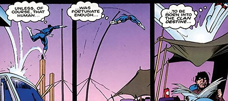 William Destine doing acrobatics, continued