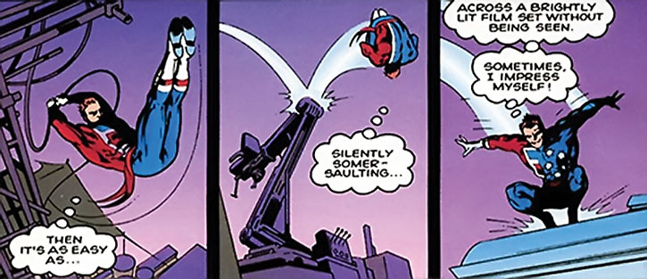William Destine doing acrobatics