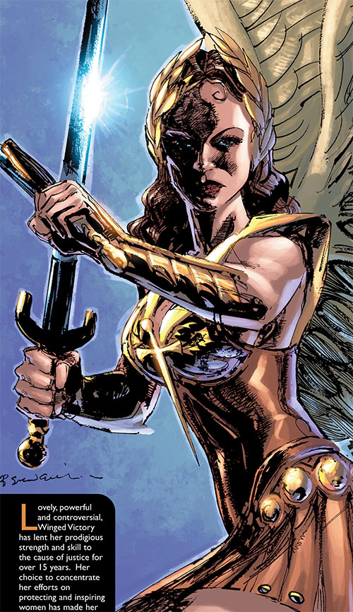 Winged Victory (Astro City comics) dual-wielding swords