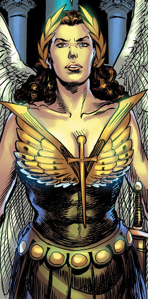 Winged Victory (Astro City comics) talking