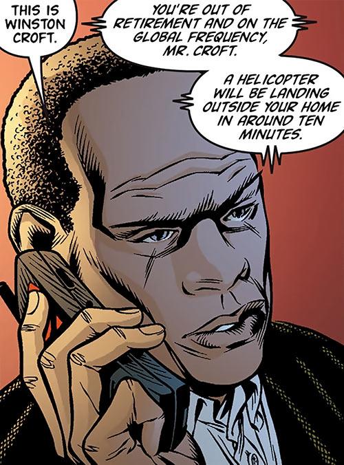 Winston Croft (Global Frequency comics) closeup