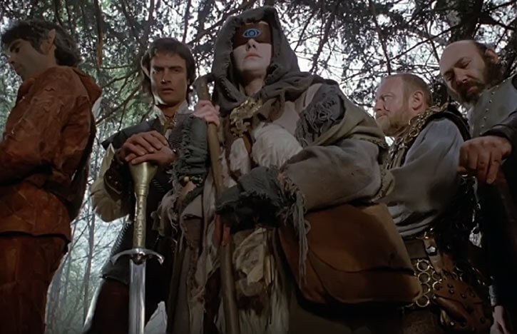 Witch Woman - Hawk the Slayer movie 1980 - With the group