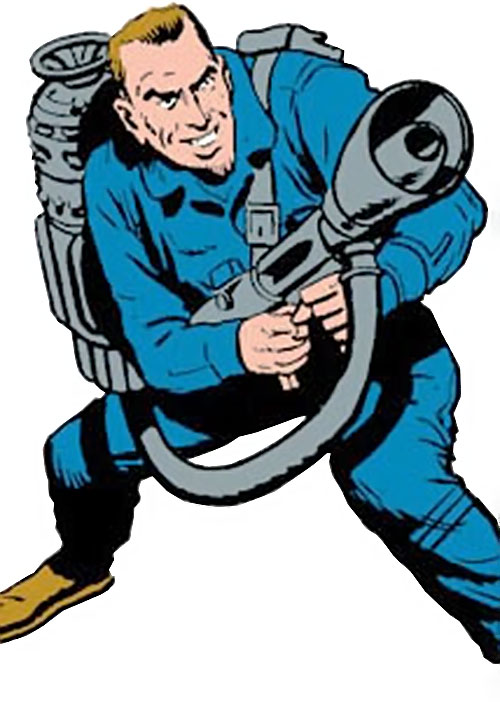 Wizard (Marvel Comics) blue jumpsuit big science gun