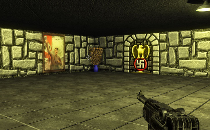 A Hitler painting in the Wolfram Wolfenstein remake