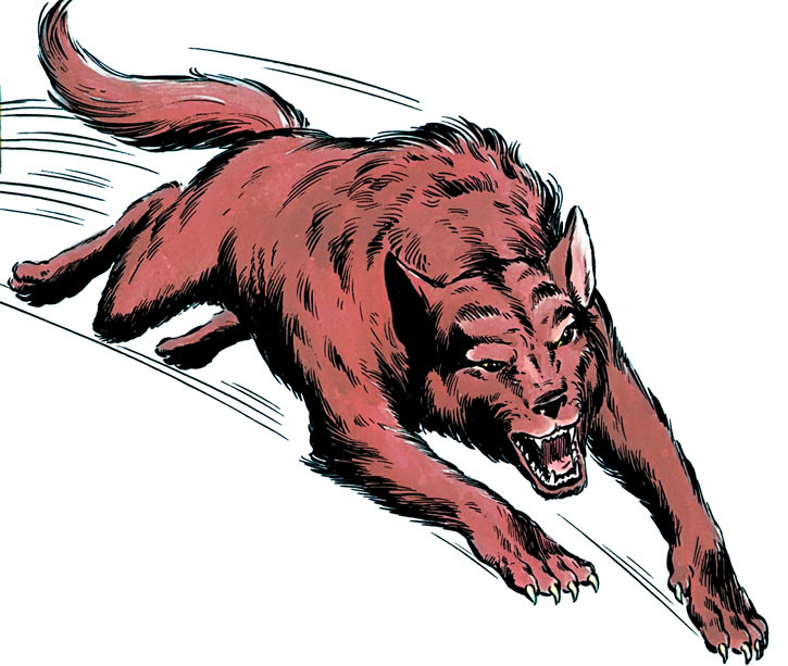 Wolfsbane (New Mutants) (Marvel Comics) (Earliest) wolf form jump