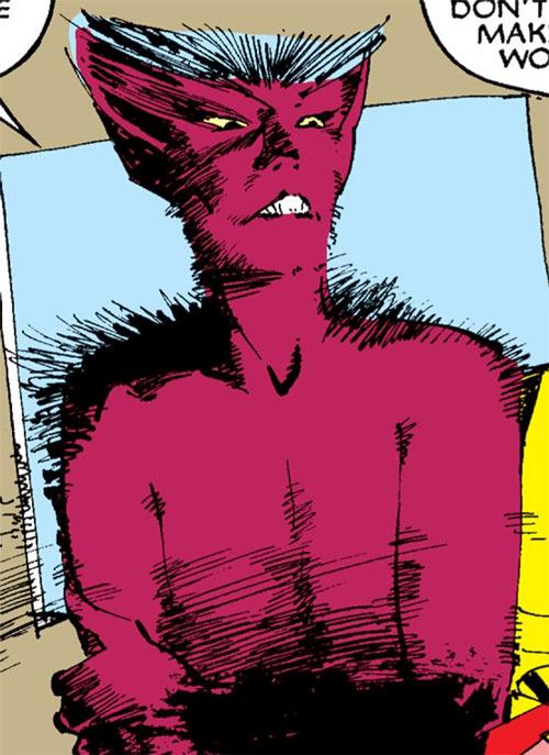 Wolfsbane (New Mutants) (Marvel Comics) (Earliest) transitional fuzzy form bust