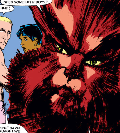 Wolfsbane (New Mutants) (Marvel Comics) (Earliest) transitional form face closeup
