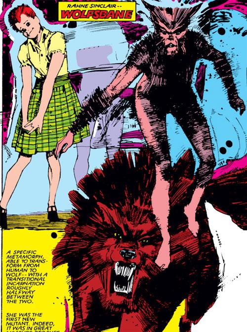 Wolfsbane (New Mutants) (Marvel Comics) (Earliest) Sienkewicz art